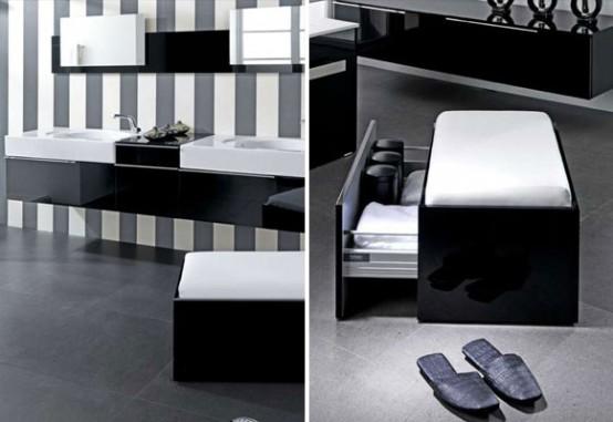 Modern Black and White Bathroom Design Ideas