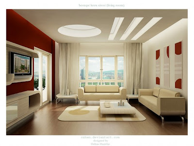 Designroom Online Free on Red And White Living Room Designs   Interior Design   Interior
