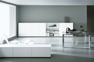 Home Furniture on Contemporary Black And White Home Office Furniture Design