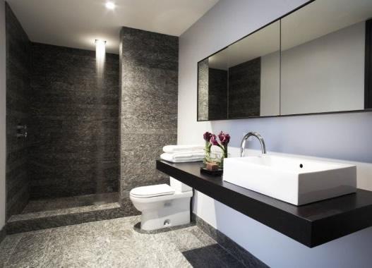 Interior bathroom designs black and white house interior for Interior house designs black and white