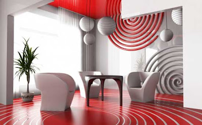 Modern Red And White Living Room Design Ideas Home
