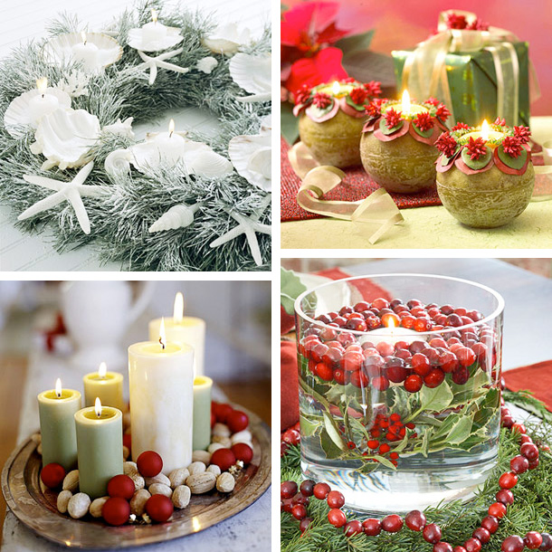 Beautiful christmas candles decoration ideas interior for Beautiful christmas decorating ideas