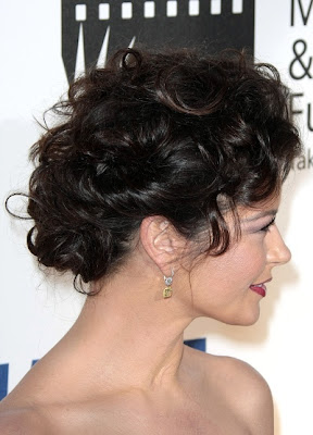 a casual updo hairstyle,