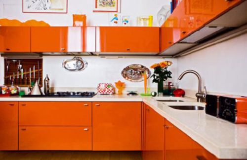 interior bathroom designs Orange Color Kitchen Design Ideas