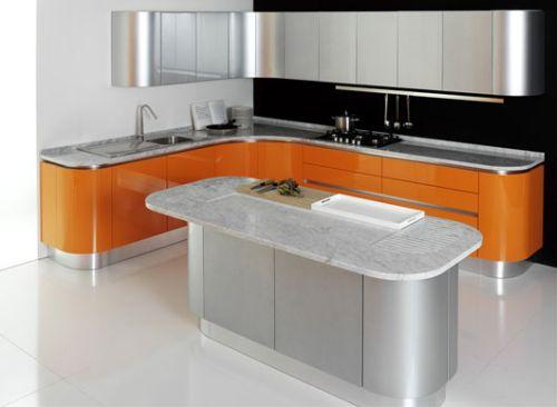 Orange Color Kitchen Design - Kitchen Design Ideas ...