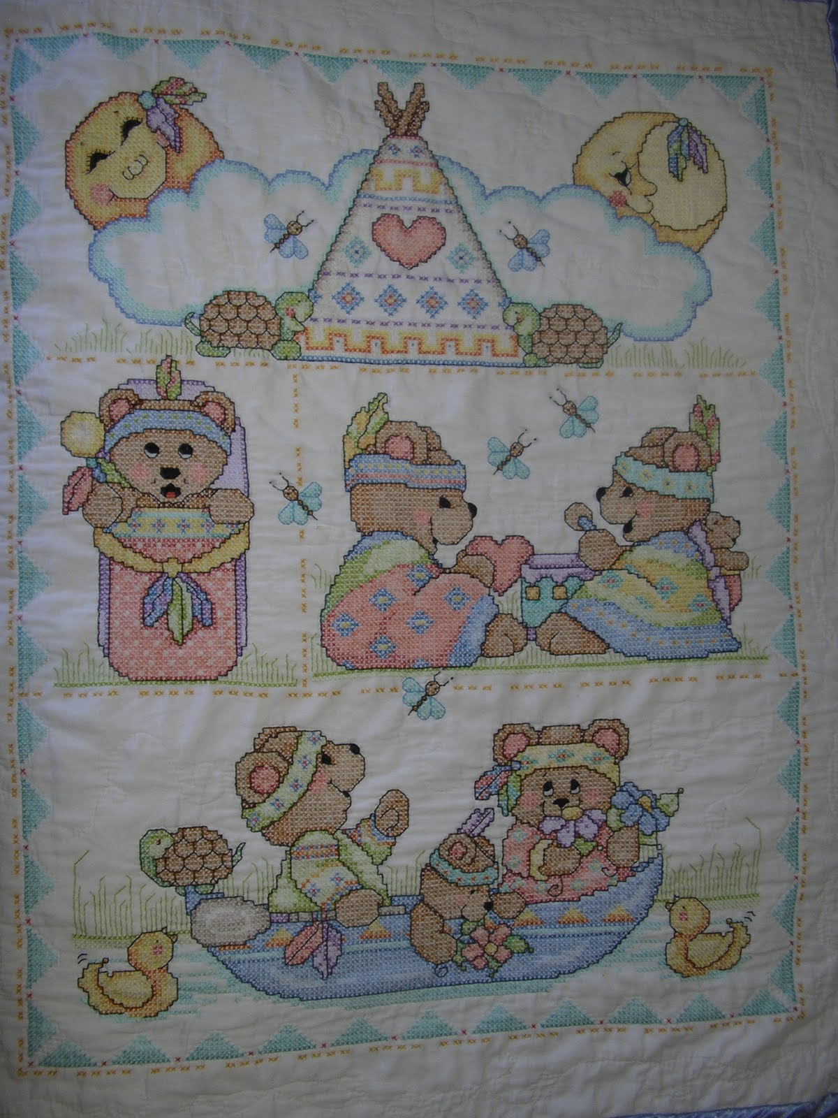My Quilts: Cross Stitch Baby Blanket