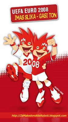 UEFA's EURO 2008 (mascots Trix and Flix) - Janko Ilkovski so proektot 'Imas Slika - Gasi Ton'