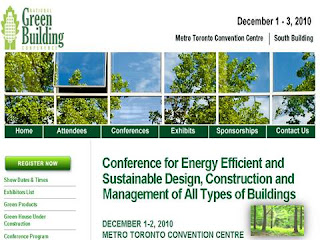 Green Building Conference, Metro Toronto Convention Centre, December 1-3, 2010, by wobuilt