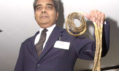 Guinness World Records longest fingernails Lee Redmond Shridhar Chillal