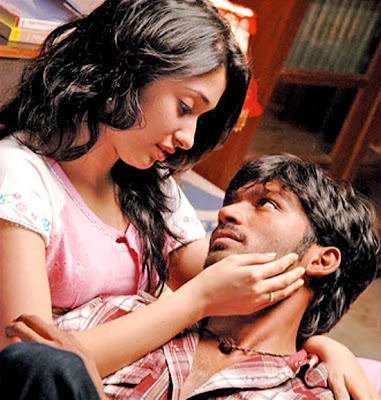 Kollywood Actress Tamanna and Dhanush in Padikathavan Movie Stills