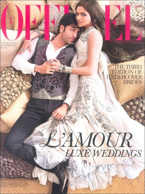 Wonderfull Photoshots from L'Officiel India with Ranbir Kapoor-Deepika Padukone