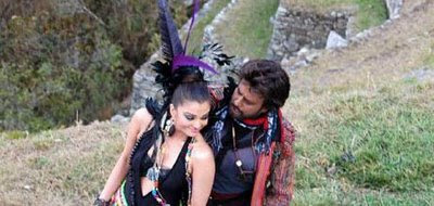 Superstar Rajinikanth with bollywood actress Aishwarya in Endhiran shooting spots still and gallery