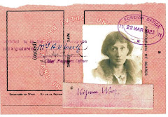 un sello con el rostro de Virginia Woolf