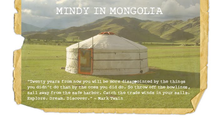 Mindy in Mongolia