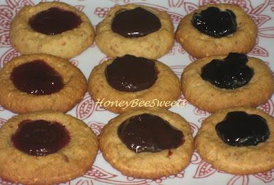 Honey Bee Sweets: Roasted Peanut Thumbprint Cookies