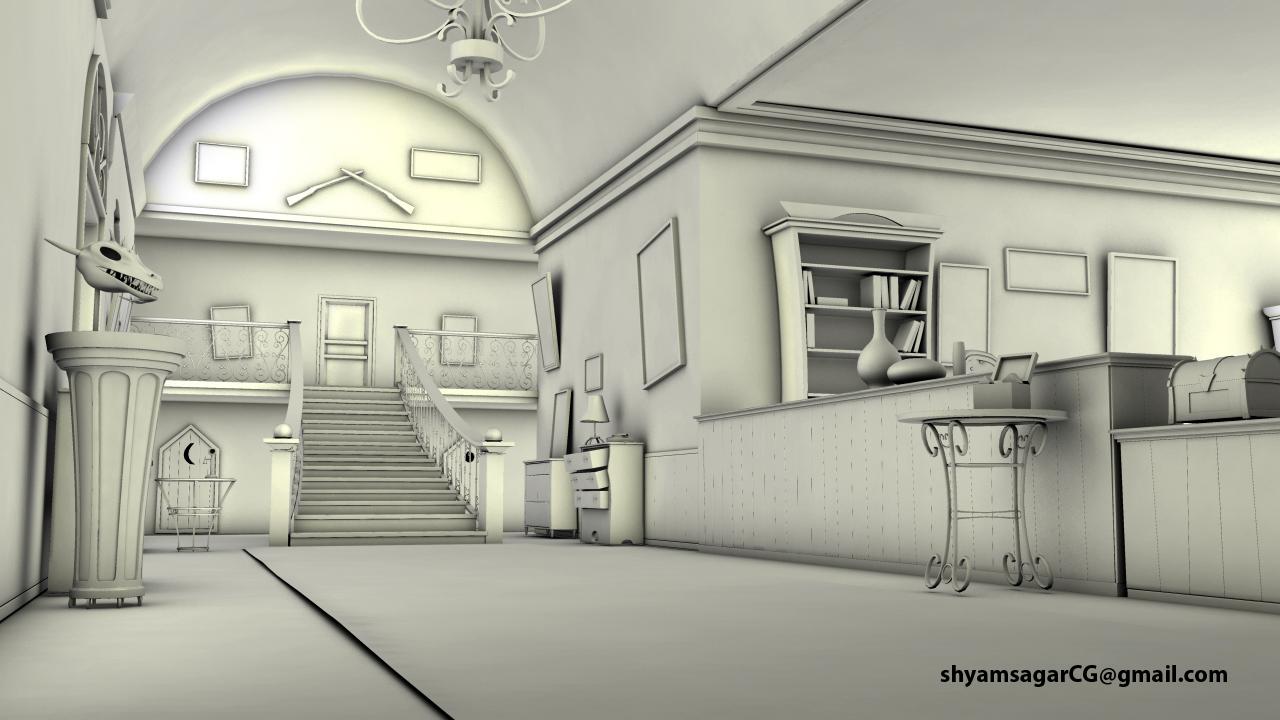 3d interior set modeling - 3d Interior Modeling