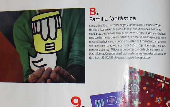 Los Wisky en Revista living. (nota)