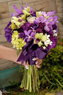 purple bouquet, stock flowers, orchid bouquet, hydrangea bouquet
