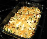 Green Tomato and Zucchini Gratin
