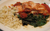 Salmon Baked With Chard