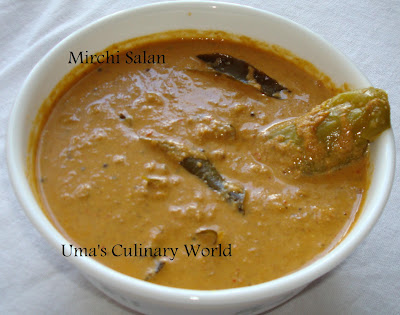 hyderabadi mirchi salan