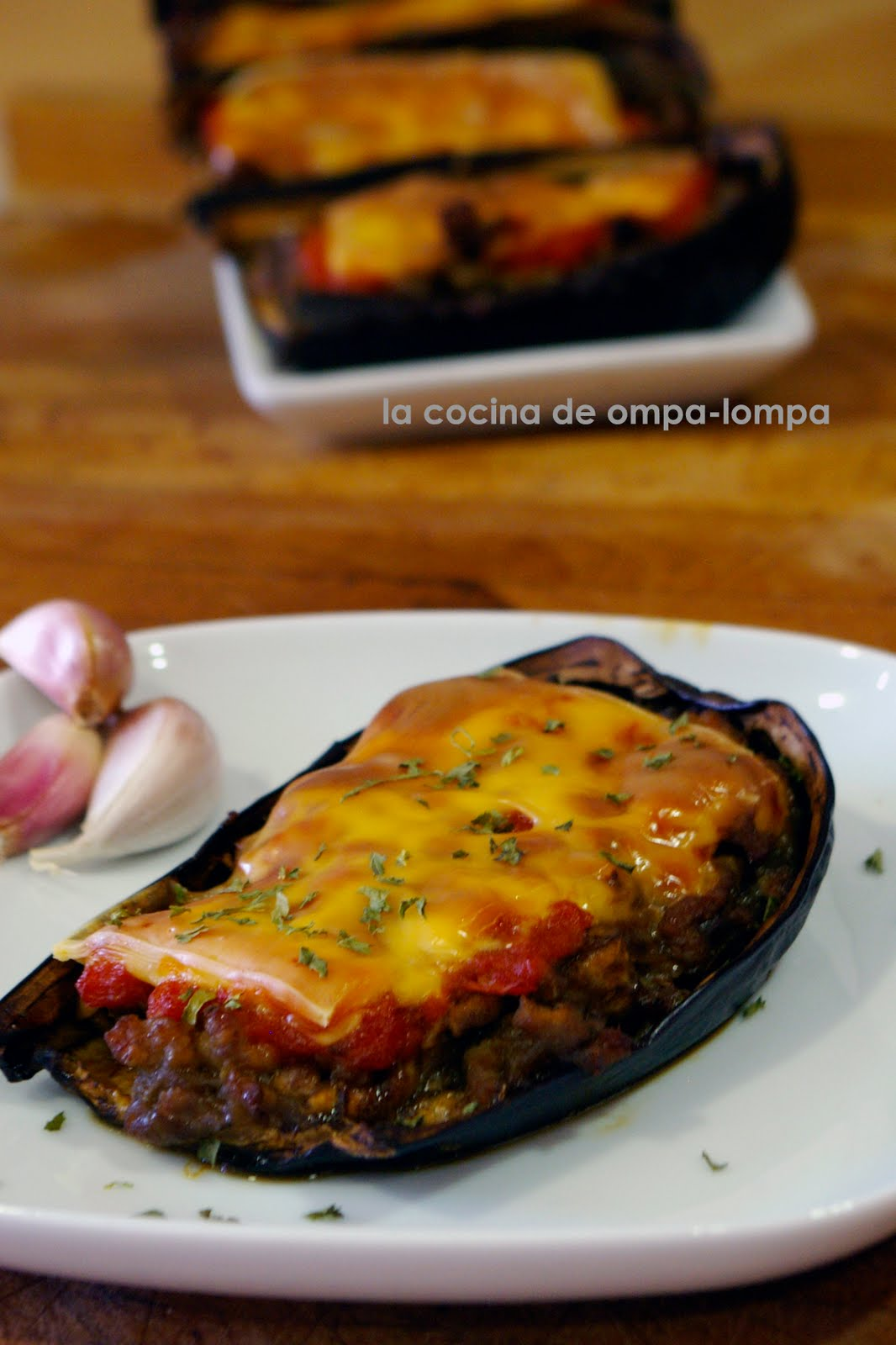 La cocina de ompa lompa berenjenas rellenas for Cocina berenjenas rellenas