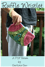 Ruffle Wristlet PDF Sewing Pattern