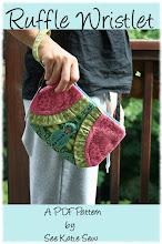 Ruffle Wristlet PDF Sewing Pattern