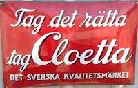 Skylt Chokladboden i Gamla Linköping