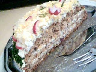 Halvt uppäten tårta
