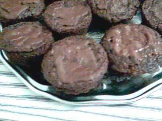 Chokladmuffins med dinkel, rödbetor och banan