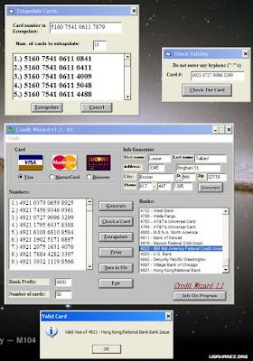 Credit Card Generator With CVV