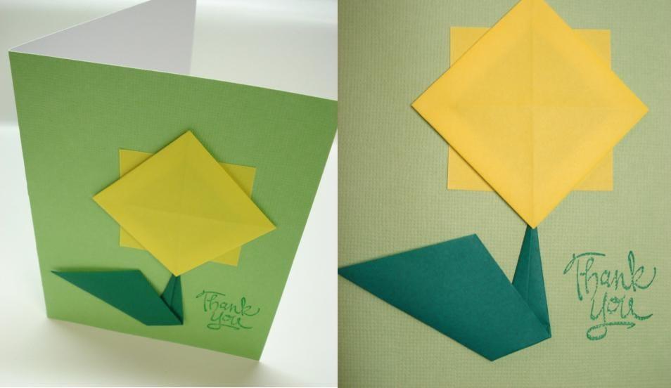 Peacefully Folding Blog Origami Sunflower Card Tutorial