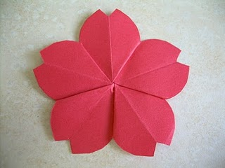 Peacefully folding blog origami cherry blossom i can never get tired of folding origami flowers check out these cute cherry blossoms which can be used on cards or even a home decoration if you add mightylinksfo