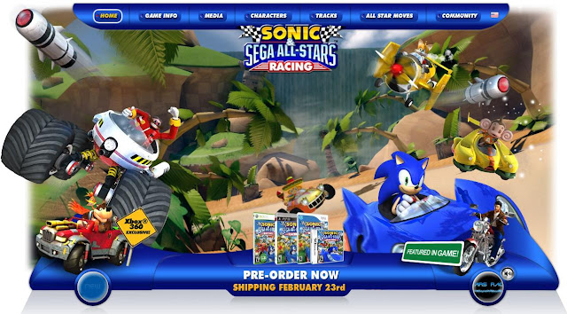www.sega.com/sonicracingsweeps, Sonic & SEGA All-Stars Racing Sweepstakes