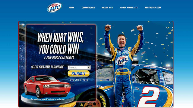 Miller Lite When Kurt Wins Racing Sweepstakes, Www.Millerlite.com/racing