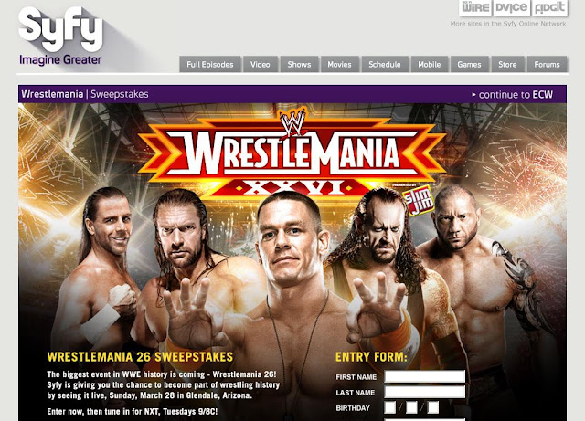 Syfy.com/wrestlemania - SYFY Channel ECW WrestleMania