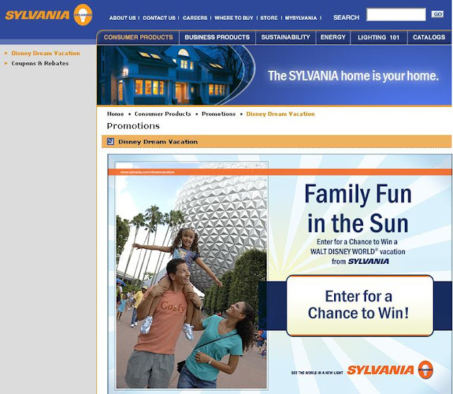 Sylvania.com, Sylvania, Dream Vacation 2010