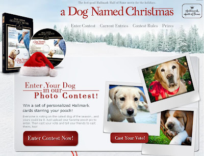 Hallmark Hall of Fame A Dog Named Christmas Giveaway,  Hhofdogcontest.com, dog named Christmas Contest