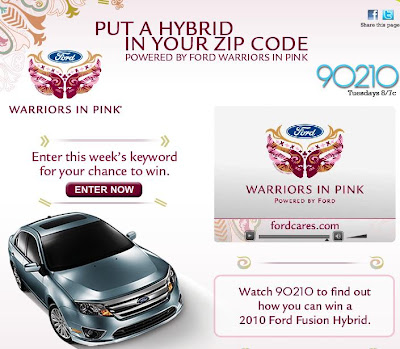 Cwtv.com/Warriorsinpink - Cwtv Put a Hybrid in Your ZIP Code Sweepstakes