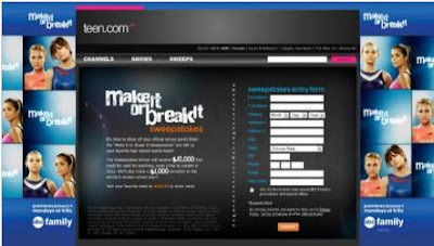 Teen.com/makeitorbreakitsweeps - Teen's Will Your Team Make It or Break It Sweepstakes