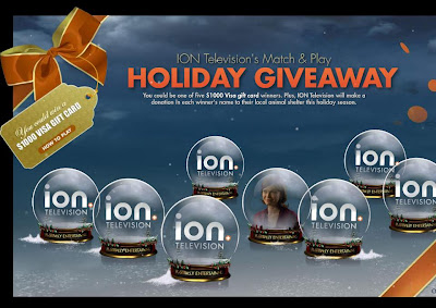 iontelevision.com/holidaycheer - ION Television's Match and Play Holiday Giveaway