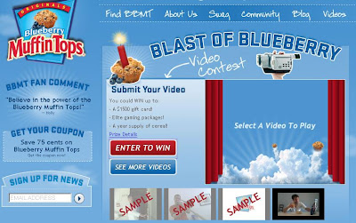 www.blueberrymuffintops.com - Blueberry Muffin Tops Video Contest
