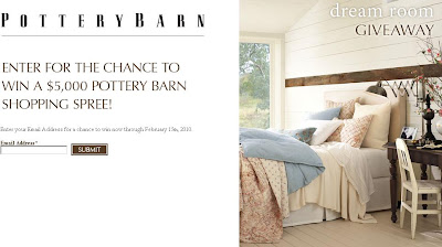 Potterybarn.com - Pottery Barn Dream Room Giveaway