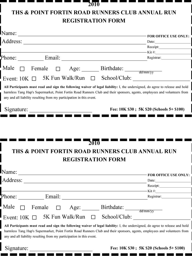 5k registration form template | datariouruguay