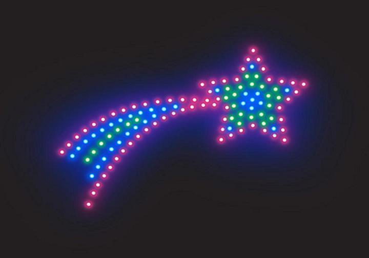 Estrellas movibles de colores - Imagui
