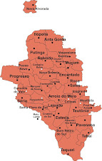 Mapa do Vale do Taquari