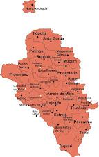 Mapa do Vale do Taquari