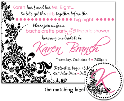 lingerie bachelorette party invitations