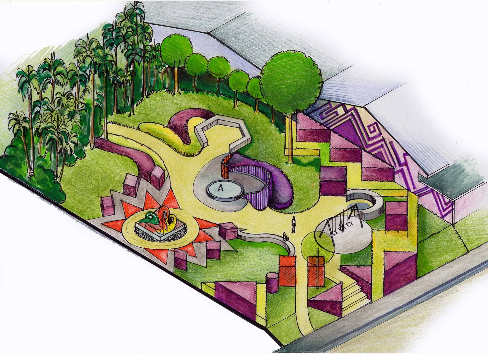 Paisajismo pueblos y jardines arquitectura paisajista y for Diseno de jardines pdf